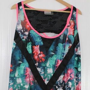 Nanette Lepore Sport Floral Athletic Tank Top